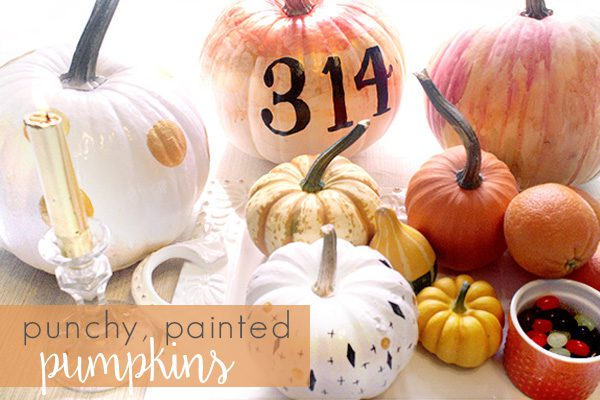 punchy painted pumpkins by Amarilys Henderson | Rochester MN Moms Blog