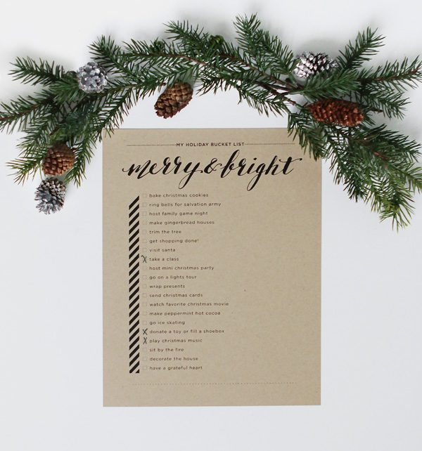 , bucket list, calligraphy, christmas bucket list, free downloads, free printable, holiday, holiday bucket list, merry & bright, holidays, printable, graphics, christmas cookies, gingerbread houses, salvation army, christmas lights, christmas tree farms, christmas cards, santa, hot cocoa, shopping, shop local, christmas, traditions, christmas 2016, christmas events, christmas giving, christmas in rochester, christmas shopping in rochester