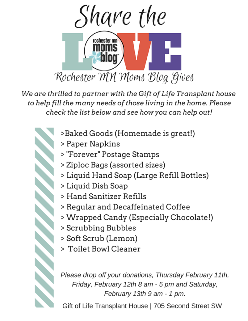 Share the Love - Rochester MN Moms Blog Gives | Rochester MN Moms Blog