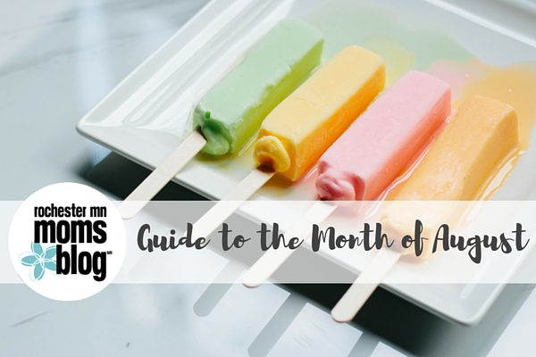 guide to august, events for families, family events, mom events, moms night out, roch mn, rochester mn
