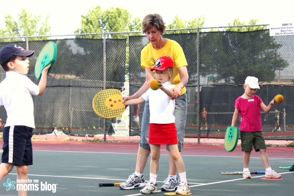tennis, tennis lessons, soft sports, kid activities, youth sports, fitness for moms, rochester mn