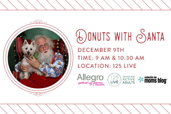 donuts with santa, rochester mn, roch mn, family events, holiday events
