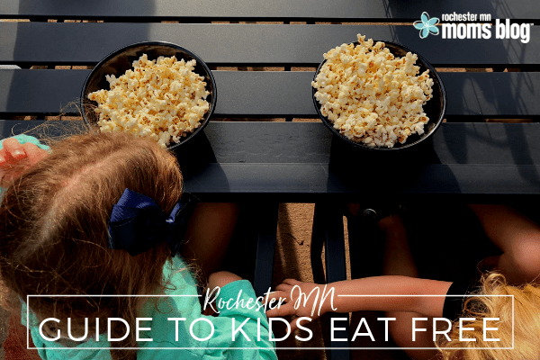 rochester mn, roch mn, things to do, experience rochester mn, where do kids eat free in rochester mn, kid's meal deals, free kids meals