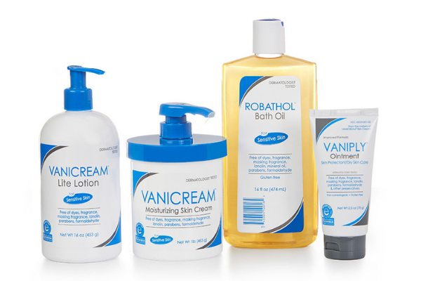 a collection of speciality products for calming and treating sensitive skin
