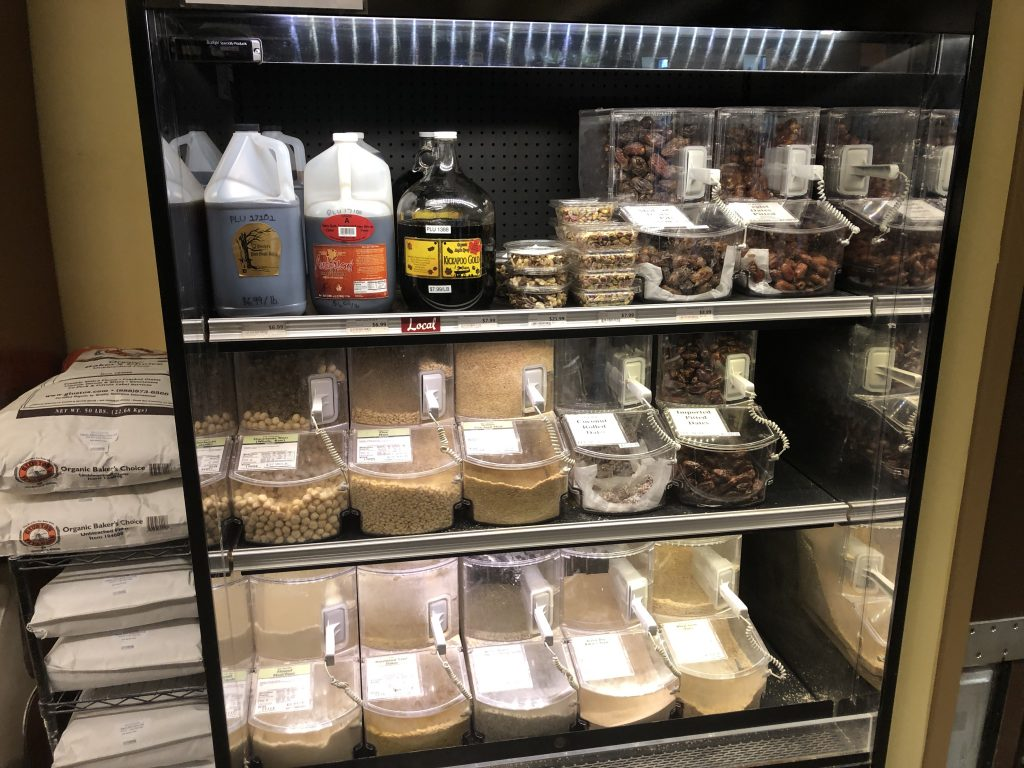 Refrigerated Bulk Bin Products at People's Food Co-op in Rochester, MN.