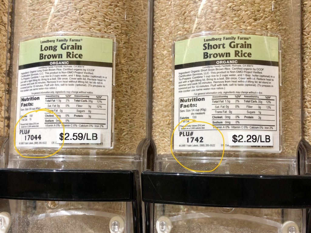 PLU found on the bulk bin products at People's Food Co-op in Rochester, MN