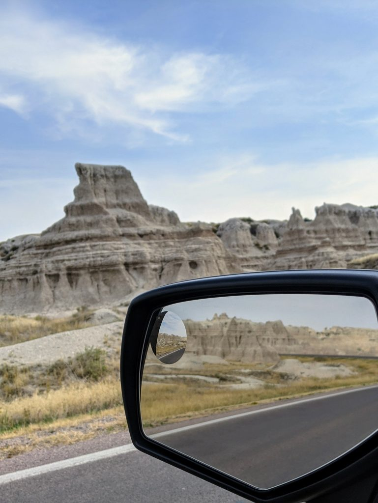 Driving in the badlands